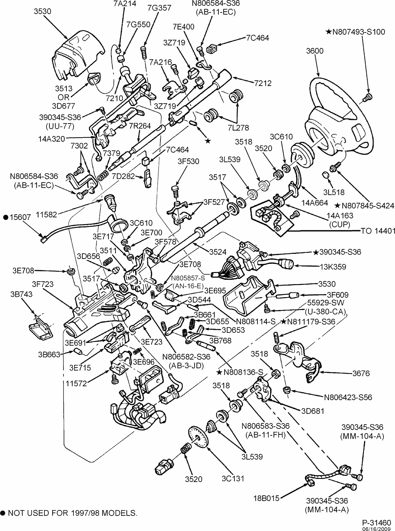 97 Ford Powerstroke Fuse Box Diagram Wiring Library 2002 F 250 Exploded View For The 1997 F250 Tilt Steering Column Services Rh Steeringcolumnservices Com