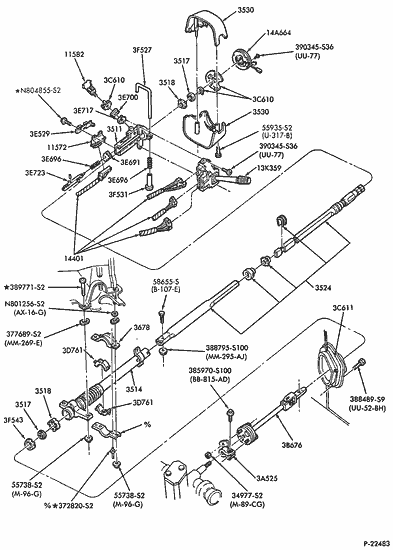 1962 ford falcon steering column exploded view