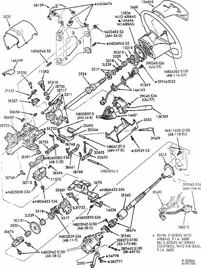 2001 Ford F 150 Steering Column Diagram