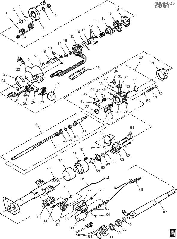 exploded view for the 1993 buick roadmaster tilt