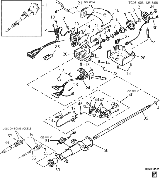 Chevy truck steering column diagram on 1996 chevy truck steering