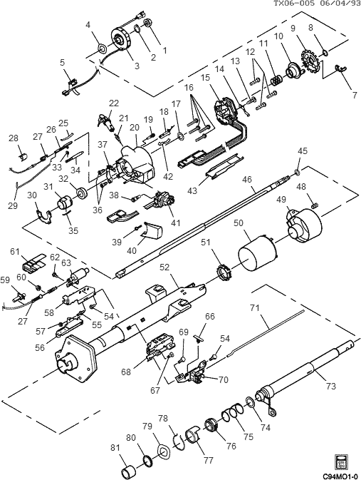 chevrolet tilt steering column diagram f150 shift column