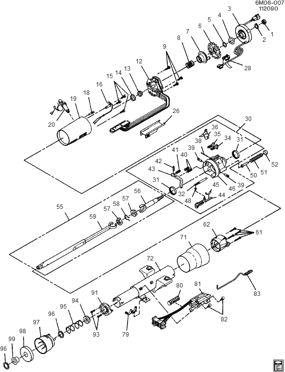 Cadillac Steering Column Wiring Diagrams