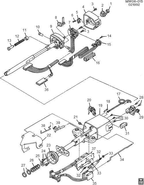 1993 Chevy Lumina Steering Diagram