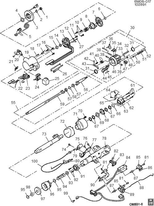 gm column wiring diagram rod