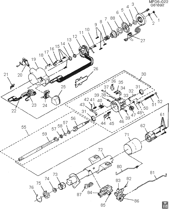 wiring diagram for 78 chevy blazer exploded view for the 1991 pontiac firebird tilt  exploded view for the 1991 pontiac firebird tilt