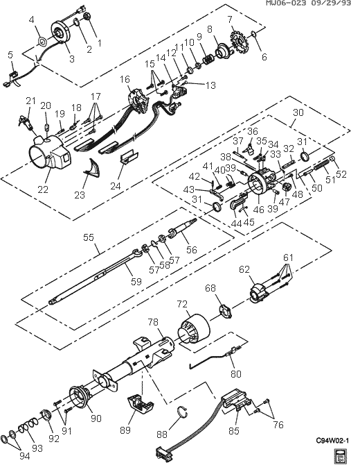 Pontiac Steering Column Diagram