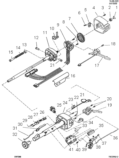exploded view for the 1988 chevrolet corsica tilt