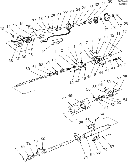 Exploded View For The 1991 Chevrolet Blazer Tilt