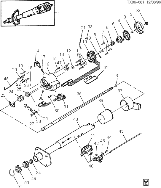 exploded view for the 1994 Chevrolet Pickup Non-Tilt ...