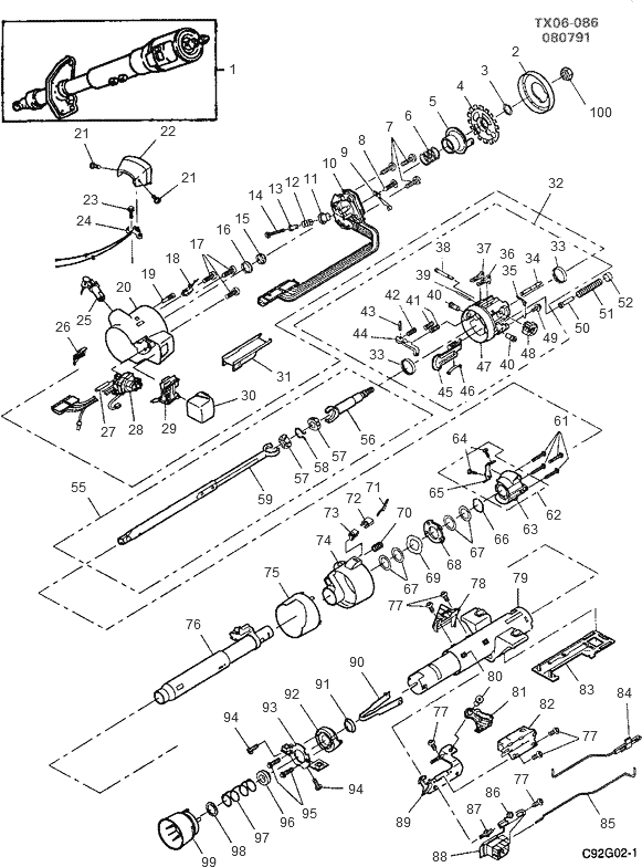 Chevrolet Steering Column Wiring Diagram on turn signal switch exploded view