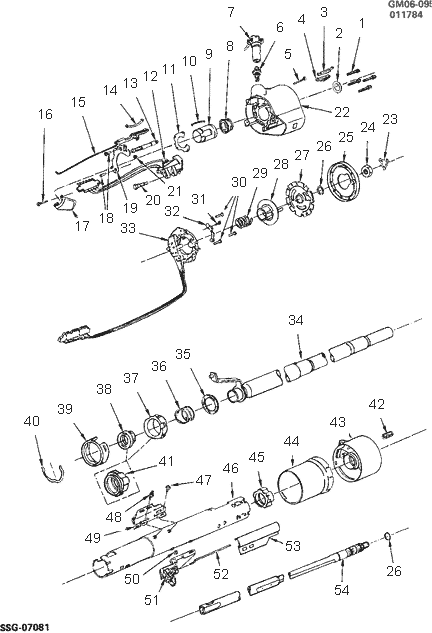exploded view for the 1986 cadillac fleetwood non