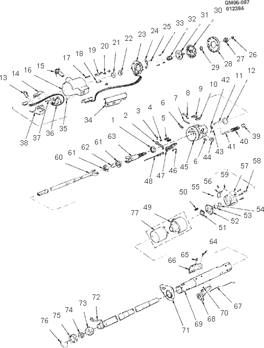 Exploded View For The 1987 Buick Regal Tilt
