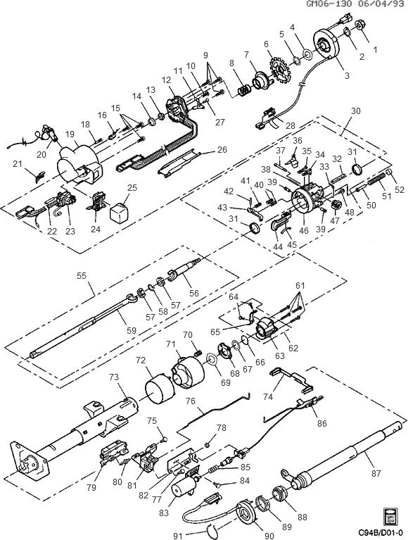 Buick Steering Column Diagram