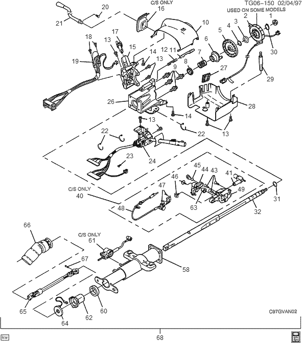 exploded view for the 2000 chevrolet g