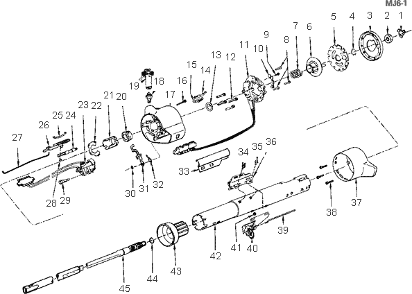 exploded view for the 1984 chevrolet cavalier non