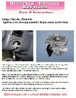 Our Part Dhsg04 Instructions Fits Makes Dodge Chrysler Plymouth Years 1996 2006